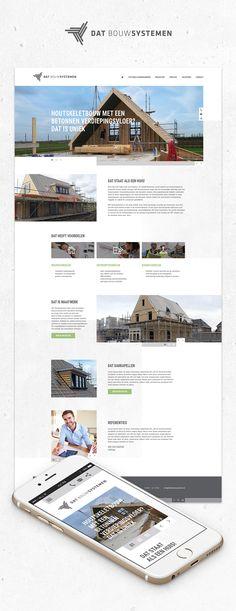 Website voor DAT Bouwsystemen uit Middelharnis, Zij zijn wereldwijd uniek als houtskeletbouwer met betonnen verdiepingsvloeren.