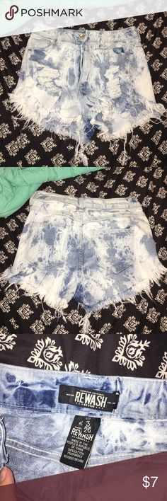 high waisted shorts bought from platos closet and I've never worn them, good condition Rewash Shorts Jean Shorts