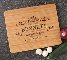Personalized Wedding Gift, Cutting Board, Engraved Cutting Board, Bamboo Cutting Boards, Personalized Wedding, Housewarming Gift-15 x 12 D35