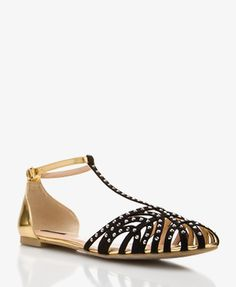 Mirrored T-Strap Flats | FOREVER21 - 2027706217
