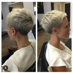 """2,856 Likes, 22 Comments - Short Hairstyles   Pixie Cut (@nothingbutpixies) on Instagram: """"Just another great #chickfade by @dillahajhair.  He just keeps rockin the short cuts """""""