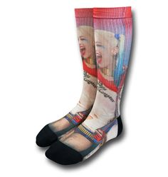 rogeriodemetrio.com: Suicide Squad Harley Quinn Sublimated Socks