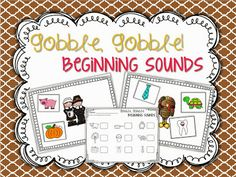 Thanksgiving beginning sound sort FREEBIE