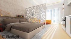 Интересная ажурная перегородка в общей комнате…. | Дизайн интерьера