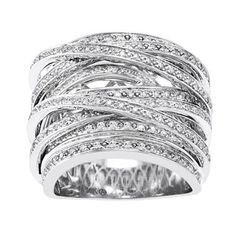 Shop for Beverly Hills Charm 10k Gold 1ct TDW Diamond Multi-row Crossover Ring (H-I, I2-I3). Get free delivery at Overstock.com - Your Online Jewelry Destination! Get 5% in rewards with Club O!