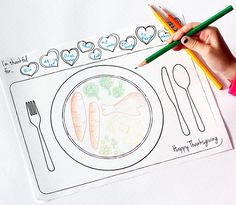 GREAT IDEA FOR KIDS...This Thanksgiving printable place setting will keep the kids entertained while all the food is being put out. Print off and let your kid's imagination run wild.