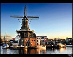 Haarlem Windmill Netherlands Holland Spaarne