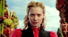 Magic Kingdom's king — disneyliveaction: Mia Wasikowska as Alice... Mia Wasikowska, Disney Live, Tim Burton, Magic Kingdom, Live Action, Alice In Wonderland, Hair Styles, Beauty, Hair Plait Styles