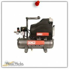 Senco 1.5 HP, 2.5 Gal Compressor.  Ideal for the professional contractor who requires the durability of an oil lubricated compressor and desires a lightweight unit for finish and trim applications. woodwerks.com #woodworking #Senco #Tools