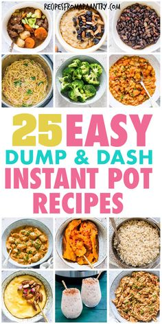 Save time with these easy, fuss free meals you can make in your instant pot! This awesome collection of tried and tested Dump and Start Instant Pot Recipes includes a variety of simple delicious easy dump melsl like breakfasts, stews, main dishes, side dishes , desserts chicken and healthy recipe. Just dump ingredients in your pressure cooker, press start and go! #Instantpotrecipes  #pressurecookerrecipes #easyrecipes #dumpandstartrecipes #dumprecipes #recipes#pushandstartrecipes #instantpot Potluck Recipes, Supper Recipes, Beef Recipes, Healthy Recipes, Dump Recipes, Drink Recipes, Italian Recipes, Chicken Recipes, Instant Pot Pressure Cooker