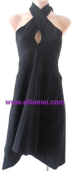 $59 #OnSaleNow  At http://elliemei.com/products/multi-wear-magical-dress #MultiWearMagicalDress #MultiWearDress  #MagicalDress #CottonDress #Color is: #Black #White #Blue #Green #Purple #Mixup the #shape of your #dress to #fit  #nearly #any #event or #occasion and to #express  #your  #own        #personal  #style #Arched #hem #hits at #knees #You #can  #find the  #best  ways to #wear it to #suit your #body and  #preference #Fashion #Love #FreeShippingAndReturns