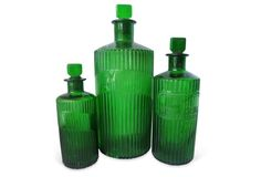 Antique Green Jars, S/3