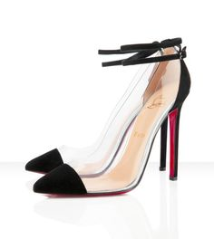 Christian Louboutin's  Un Bout Transparent PVC Pointed Toe Pumps... I've seen a lot of celebrities such as Rihanna, Alicia Keys, Beyonce, Solange Knowles, Rita Ora, LaLa Anthony & Kim Kardashian rocking these!!!!   They are simple yet classy!!!!!