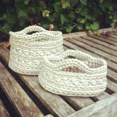 Beautiful white baskets