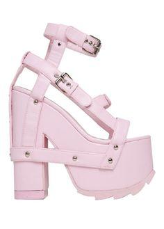 9b32772c7fd YRU Nightcall Pink Svarta Högklackade Skor, Träningsskor, Skor, Sneakers,  Platåskor, Mode