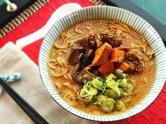 The Ultimate Rich and Creamy Vegan Ramen With Roasted Vegetables and Miso Broth.  Great article on Vegan diet with links to great recipes