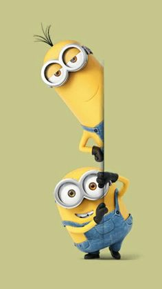 ♥pinterest➡@Nor Syafiqah♥ Minion Meme, Cute Minions, Minions Despicable Me, My Minion, Minion Characters, Disney Cartoon Characters, Cartoon Pics, Iphone Homescreen Wallpaper, Emoji Wallpaper