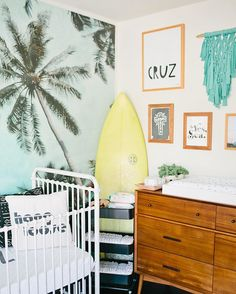 c is for cruisin'. s is for sea • bebe cruz and his sweet digs styled by mama @jacquelynkazas • as seen in @glitterguide and featuring our too palmy wallpaper • by @meganwelker • #cruisin #toopalmy #thekawaiiclub