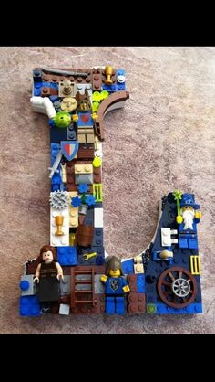 Monogrammed Lego letter