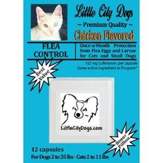 FLEA CONTROL Capsules for Cats and Small Dogs - TWELVE 165 mg Lufenuron Capsules ...Same Active Ingredient As Program