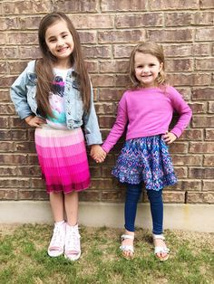 "🌸 ""Two more FANTASTIC boxes!!! Thank you Kidpik!!!!"" - Katie 🌸 SMILE! We LOVE these SUPER STYLISH SISTERS!!!!  💜 Love, Kidpik - SHARE YOUR PICS with us at ask@kidpik.com"
