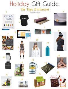 20 Holiday Gifts for the Yoga Enthusiast · The Body Book Fitness Gear, Yoga Fitness, Holiday Gift Guide, Holiday Gifts, Yoga 1, The Body Book, Yoga Holidays, Clothing Staples, Pick One