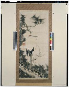 C0022867 松樹梅花孤鶴図 - 東京国立博物館 画像検索