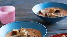 Tomato-Cucumber Gazpacho Recipe | Bon Appetit