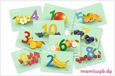 Zahlenkarten von 1 bis 10 für Kinder