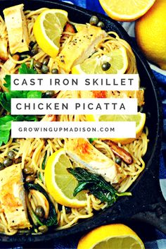 Cast Iron Skillet Chicken Picatta | Growing up Madison