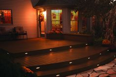 TimberTech DeckLites for ambiance and added safety #Lighting