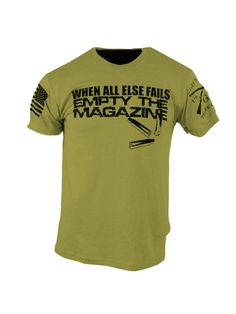 Empty The Magazine Tactical Wear, Tactical Clothing, Cool Shirts, Tee Shirts, Awesome Shirts, Graphic Shirts, Grunt Style, Tac Gear, Cool Gear
