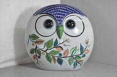 Tonala Mexican Folk Art Pottery Owl Figurine Oversized | eBay