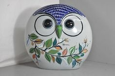 Tonala Mexican Folk Art Pottery Owl Figurine Oversized | eBay