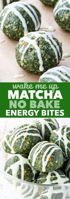 Matcha No Bake Energy Bites {gluten, dairy, egg, peanut, soy