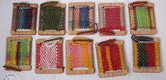 mini weaving loom ornaments by paddlefish