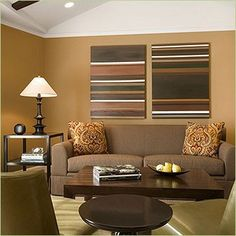 love these warm neutrals, i love this room, especially the wall color and bright white ceiling!