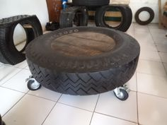Repurposed Truck Tire Coffee Table - BaliSourced.com and on Facebook
