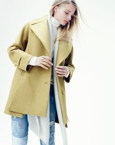 MASSIMO DUTTI - TEXTURED COAT WITH KIMONO SLEEVES | CC Style ...