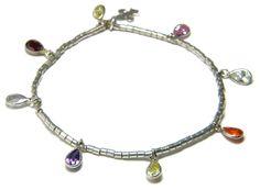 PULSERA PLATA Y LÁGRIMAS DE CIRCONITAS Charmed, Bracelets, Jewelry, Silver Bracelets, Jewlery, Jewerly, Schmuck, Jewels, Jewelery