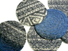 WOOL sweater coasters