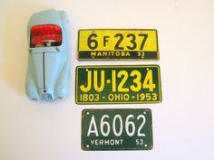 Vintage License Plates 1953