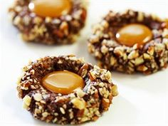 These holiday cookies taste as great as they look, and draw inspiration from the popular candy. Keep Recipe, Popular Candy, Turtle Cookies, Chocolate Turtles, Caramel Candy, Top Recipes, Clean Recipes, Biscuit Recipe, Recipe Box