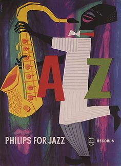 PLAY-SAXOPHONE-PHILIPS-JAZZ-MUSIC-SOUND-MUSICIAN-VINTAGE-POSTER-REPRO-LARGE