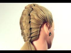 Прическа с плетением на каждый день. Braided hairstyle for every day