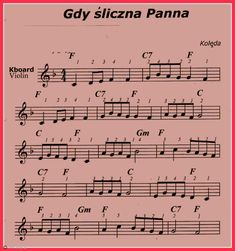 Gdy śliczna Panna Lead Sheet, Ukulele Songs, Violin, Sheet Music, Harry Potter, Learning, Christmas, Strong, History