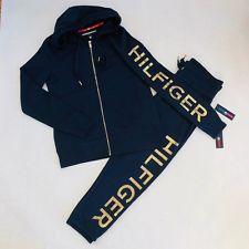 Nwt Women S Tommy Hilfiger Zip Up Sweatshirt Sweatpants Set 2 Pc Tracksuit Set Tommy Hilfiger Tracksuit Hilfiger