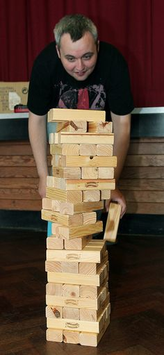 Giant Jenga! make a sell sets or could be an activity for kids to play......