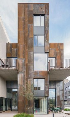 Zenhouses, sustainable eco-living townhouses in Stockholm, Sweden, by C.F. Møller Architects