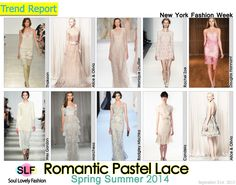 Romantic Pastel Lace Fashion Trend for Spring Summer 2014